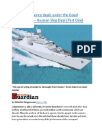 Sri Lanka  Defence deals under the Good Governance — Russian Ship Deal (Part One).docx