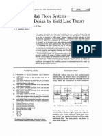 Beam and Slab Floor Systems— Composite Design by Yield Line Theory