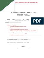 Modelul Procesului-Verbal Pentru Activitatile Extrascolare