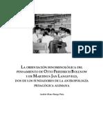 Runge, A. - La orientación fenomenológica de Bollnow y Langeveld.pdf