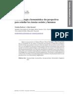 Barbera, N. y Inciarte, A. - Fenomenología y Hermenéutica, Dos Persepectivas Para Estudiar Las Ciencias Sociales y Humanas