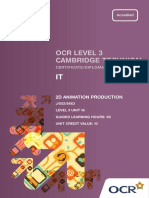 139184 Level 3 Unit 16 2d Animation Production