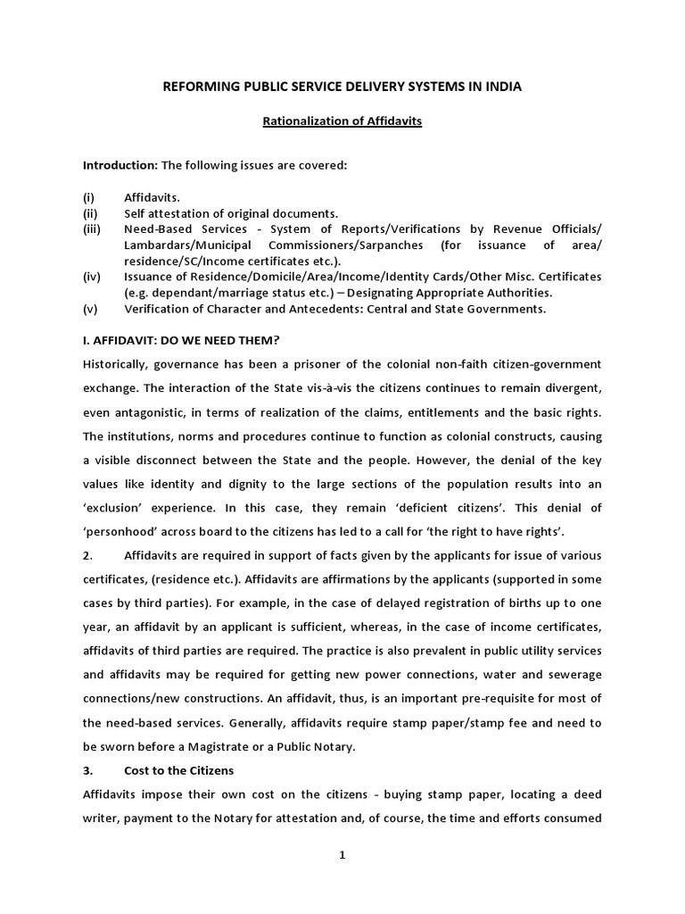 Adoption Of Self Certification Notary Public Affidavit