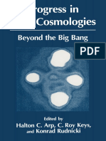 Halton Arp (Auth.), Halton C. Arp, C. Roy Keys, Progres in new cosmology