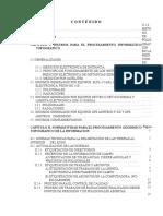 C o n t e n i d o. Metodología para el procesamiento y ajuste de información topográfica utilizando equipo de computo