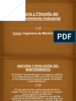 Historia y Filosofía Del Mantenimiento Industrial
