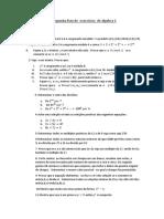 Lista de Exercicios de Algebra 1 professora Elaine UFRRJ - IM