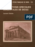 Inscriptions Grecques Dialectal - Laurent Dubois