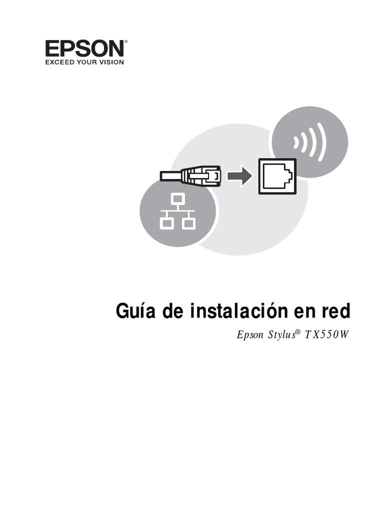 Guía de instalación en red: Epson Stylus TX550W