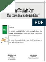Certificado DISERTANTE Huella Hidrica