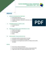 Pdlc 2017-2021 Del Distrito de Chaclacayo