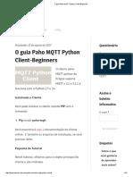 O Guia Paho MQTT Python Client-Beginners