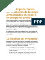 Cómo Importar Todos Los Productos de Tu Stock Almacenados en Excel a Un Programa Gratis
