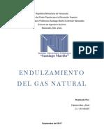 Endulzamiento Del Gas Natural 20% 3er Corte FABIANA