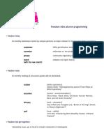 alumni programming one-sheet