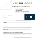 Formulário de ORIENTAÇÃO TCC Com Dados Para Agendamento Da Banca de Defesa