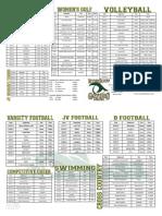 Fall Sports Schedule 2017
