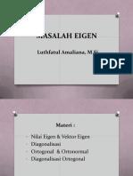 [6] Nilai Dan Vektor Eigen, Diagonalisasi , Orthogonal, Orthonormal