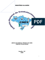 Anexo Do Manual Técnico Do CNES - Tabelas Atualizadas