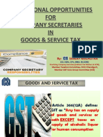 Role of CS in GST