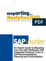 An Expert Guide to Migrating from the SAP NetWeaver BW Integrated Planning Tools to SAP BusinessObjects