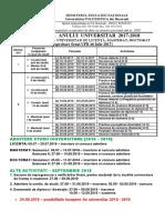 Structura an Universitar2017-2018.