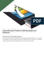 Crear Pendrive USB Booteable (Windows 7)