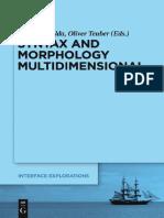Syntax and Morphology Multidimensional - Nolda & Teuber - Mouton de Gruyter