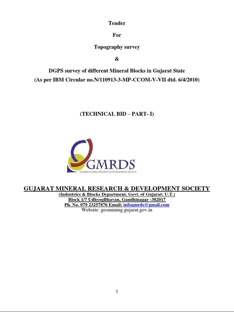 Tender DGPS (2)   Surveying   Employment