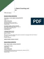 Vocal Art, Opera and Opera Coaching New