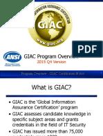 GIAC Program Overview v2015
