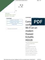 Como Configurar El Wi Fi en Un Modem Hu