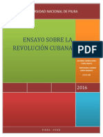 Ensayo Revolucion Cubana