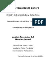 Análisis Fonológico Del Mazahua Central (1)