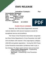 Plano police awards