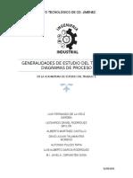 Generalidades de Estudio Del Trabajo y Diagramas de Proceso