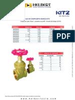 Lista de Precios KITZ 08A-03-2016
