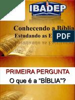 Conhecendo a Bíblia - Aula Aprsentação