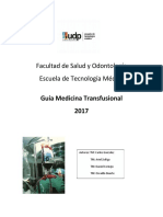 Guía Medicina Transfusional Udp 2017