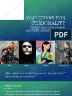 3-Adjectives for Personality
