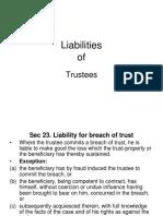 Liabilities of Trustee