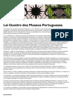 DGPC _ Lei Quadro Dos Museus Portugueses