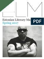 Estonian Literature Magazine, Spring 2017.