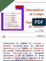 Matematica de Campo Supervisorio Con Formulas