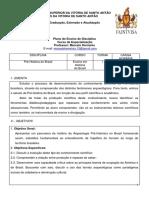 Faintvisa - Pos de História - Programa Da Disciplina Em Ensino de Pré-história