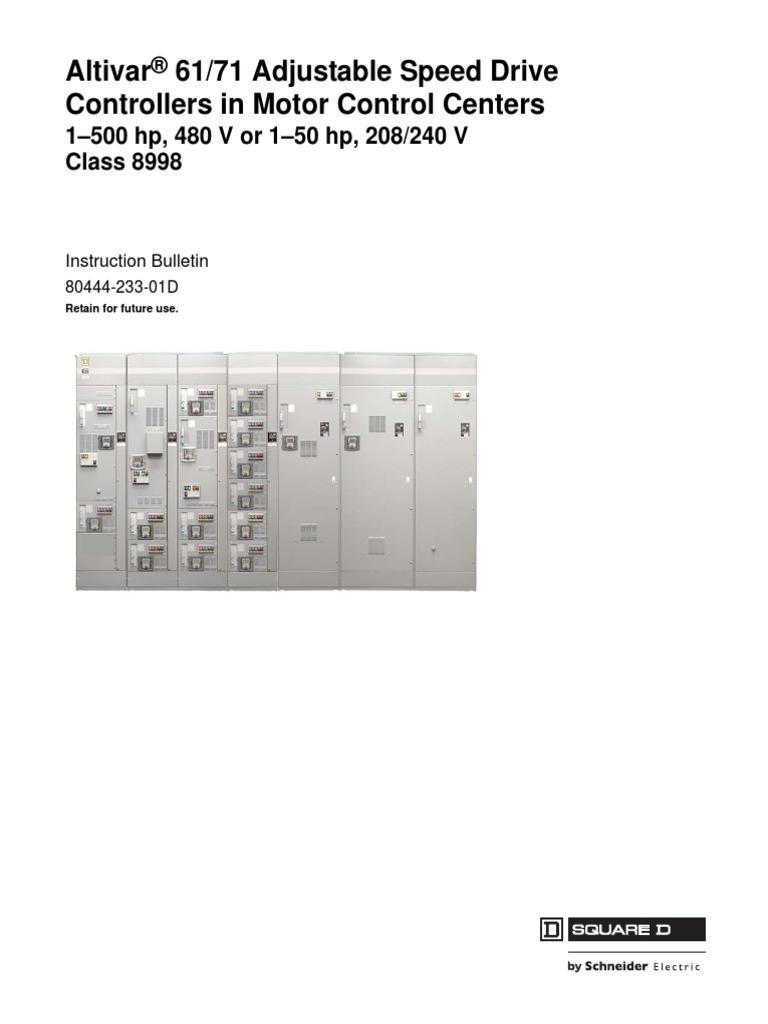 Schneider Electric Altivar 61 Wiring Diagram - Somurich com