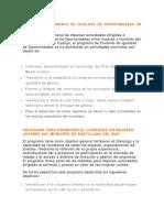 Programa de Fomento de Igualdad de Oportunidades en Medio Cudeyo