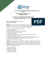 Ad1 - Administração Brasileira