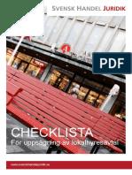Checklista for Uppsagning Av Lokalhyresavtal 2014