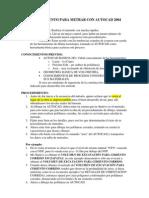 PROCEDIMIENTO PARA METRAR CON AUTOCAD